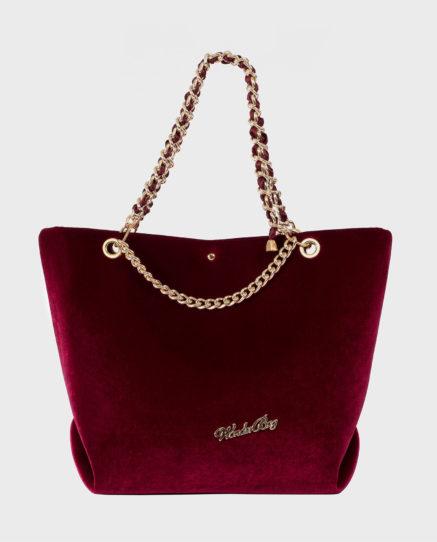 borsa velluto rossa