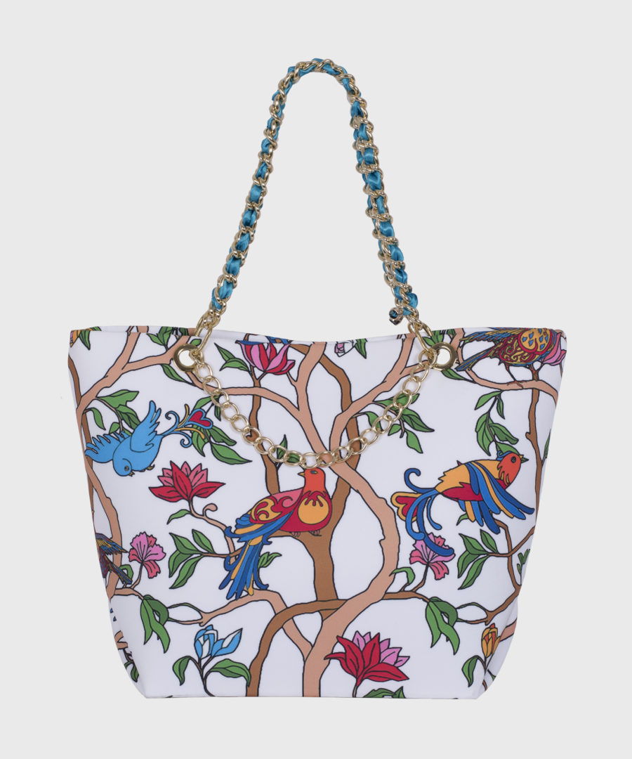 borsa uccelli colorati